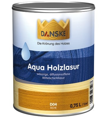 danske Aqua Holzlasur 0,75l