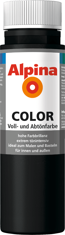 Alpina Color Voll- und Abtönfarbe Night Black