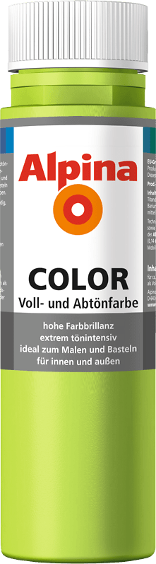 Alpina Color Voll- und Abtönfarbe Power Green