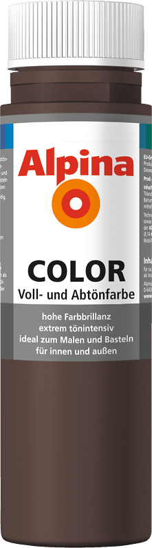 Alpina Color Voll- und Abtönfarbe Choco Brown