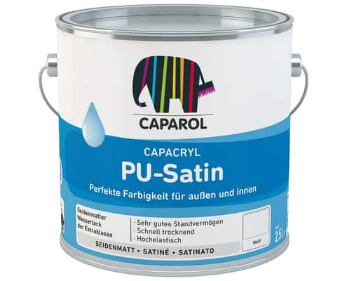 Capacryl PU-Satin, weiß